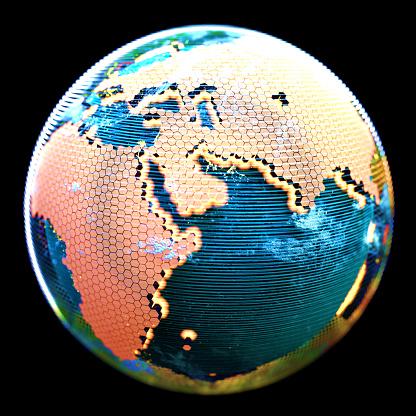 Map of the world「アース」:スマホ壁紙(7)