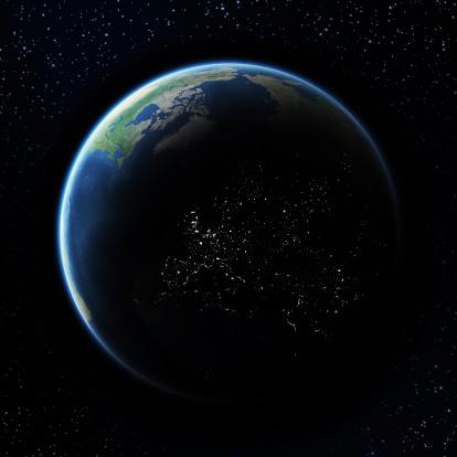 Map of the world「Earth」:スマホ壁紙(19)