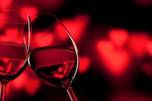 ハート「ロマンチックなバレンタインデーのお祝いのワインのお気に入りのワインレッド」:スマホ壁紙(7)
