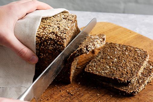 Loaf of Bread「Loaf of organic rye bread.」:スマホ壁紙(4)