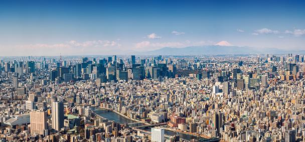 Tokyo Tower「mt jufi and Tokyo skyline, Japan」:スマホ壁紙(8)