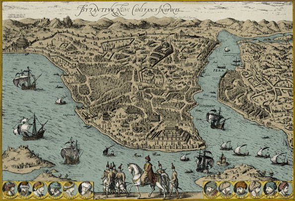 17th Century「Map of Constantinople」:写真・画像(8)[壁紙.com]