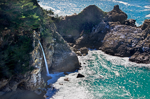 Julia Pfeiffer Burns State Park「McWay Falls」:スマホ壁紙(14)