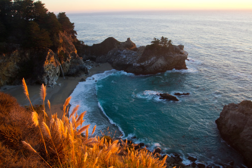 Julia Pfeiffer Burns State Park「McWay Falls at Big Sur, California, USA」:スマホ壁紙(13)