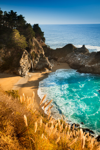 Julia Pfeiffer Burns State Park「McWay Falls, Julia Pfeiffer State park, Big Sur, California, USA」:スマホ壁紙(4)