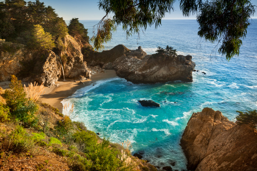 Julia Pfeiffer Burns State Park「McWay Falls, Julia Pfeiffer State park, Big Sur, California, USA」:スマホ壁紙(6)