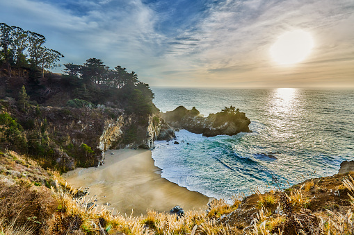 Big Sur「McWay Falls,Big Sur,Julia Pfeiffer Burns State Park,California」:スマホ壁紙(7)