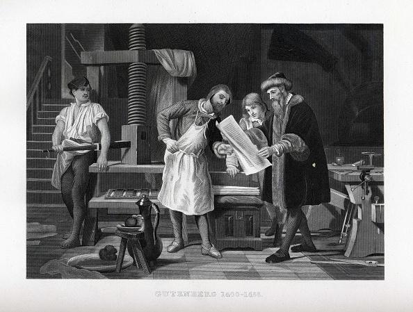 Printmaking Technique「Gutenberg 1400-1468, 1882」:写真・画像(2)[壁紙.com]