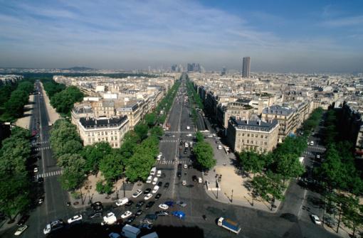 Boulevard「Avenue de la Grande Armte , Paris , France」:スマホ壁紙(1)