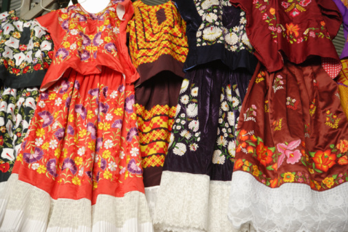 Embroidery「Embroidery dress at market, low angle view」:スマホ壁紙(19)