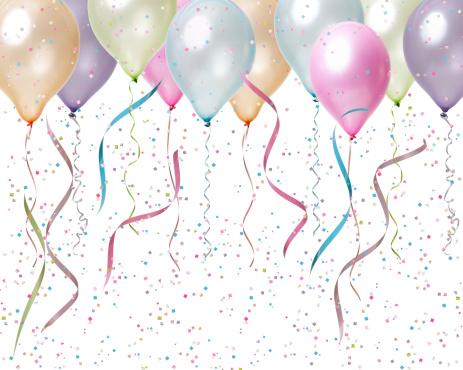Balloon「パステルカラーのお祝い」:スマホ壁紙(17)