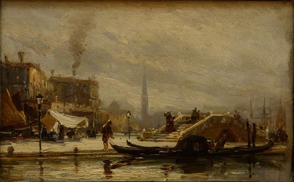 Embankment「Venice Near The Railroad Station Noon 1872」:写真・画像(19)[壁紙.com]