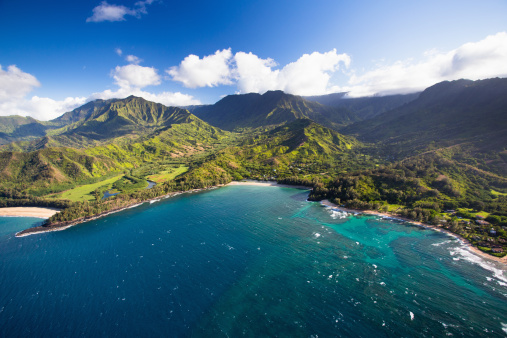 Scenics - Nature「Scenic aerial views of Kauai from above」:スマホ壁紙(4)
