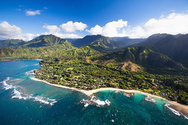 Scenic aerial views of Kauai from above:スマホ壁紙(壁紙.com)
