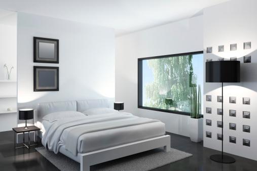 アート「ホワイトのベッドルーム」:スマホ壁紙(2)
