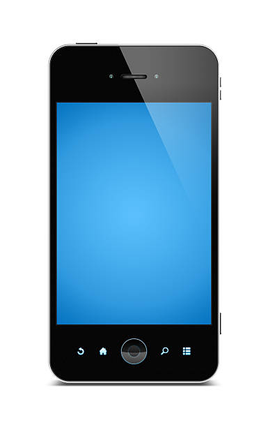 Smart phone (Clipping path) isolated on white background:スマホ壁紙(壁紙.com)