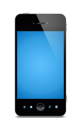 Black Color「Smart phone (Clipping path) isolated on white background」:スマホ壁紙(14)
