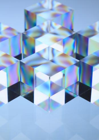 Transparent「Acrylic Cubes」:スマホ壁紙(1)