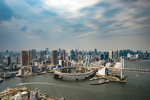 Rainbow Bridge - Tokyo「Aerial of Rainbow Bridge Tokyo」:スマホ壁紙(15)