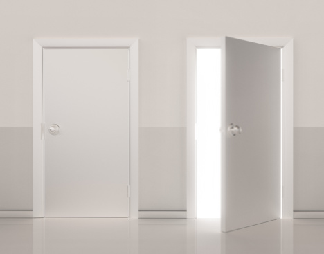 Two Objects「Two doors side by side, one door open (Digital)」:スマホ壁紙(0)