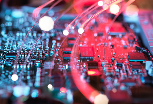 Circuit Board「Inside a laptop computer, mother board and electronic components」:スマホ壁紙(14)