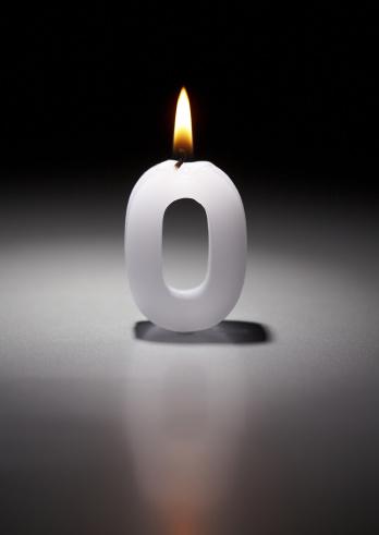 Zero「Number candle」:スマホ壁紙(2)