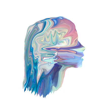 Figurine「figurative light painting resembling digital head」:スマホ壁紙(10)