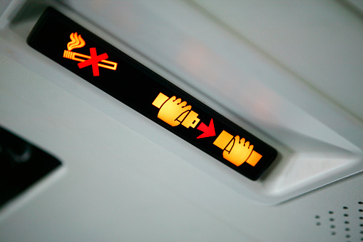 No Smoking Sign「Sign in a Airplane」:スマホ壁紙(6)