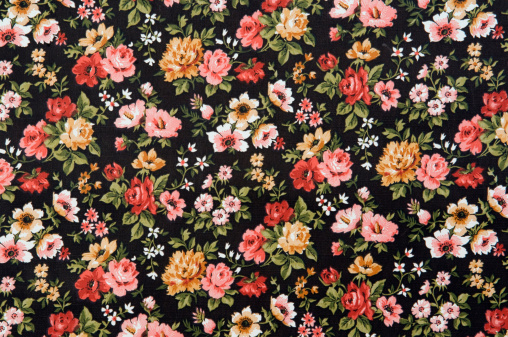 Old-fashioned「Floral wallpaper, full frame」:スマホ壁紙(1)