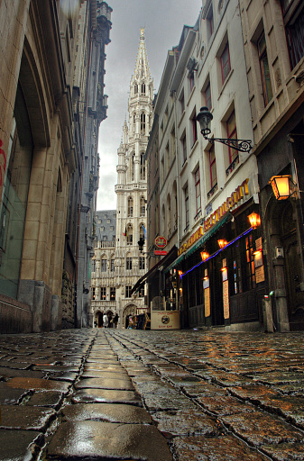 Rain「Streets of Brussels after rain. Belgium」:スマホ壁紙(6)