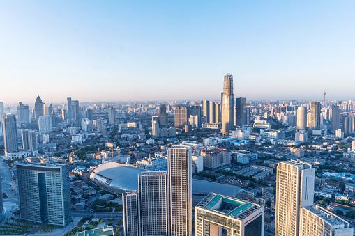 City Life「modern buildings in midtown of modern city.」:スマホ壁紙(0)