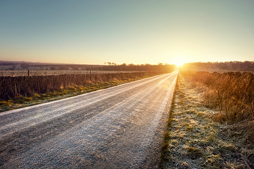 Dawn「Road and sunrise」:スマホ壁紙(19)