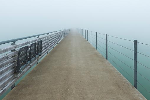 Thurgau「Germany, Thurgau, Altnau, jetty in morning fog」:スマホ壁紙(12)