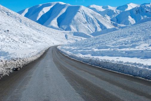 Snowdrift「Great Alpine Highway Snowscene, NZ」:スマホ壁紙(11)