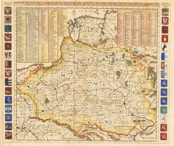 Etching「Map Of Poland Includes Portions Of Livonia And Grand Duchy Of Moscow」:写真・画像(19)[壁紙.com]