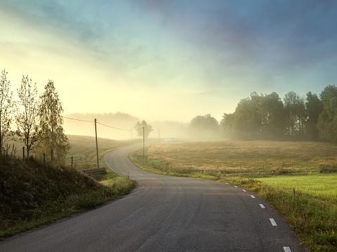 Scandinavia「Small country road trough beautiful landacape」:スマホ壁紙(18)
