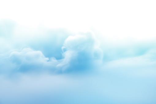 水色「Smoke floating and swirling in the air」:スマホ壁紙(14)