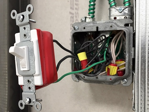 Light Switch「Installation of an electric light switch in a new studded wall.」:スマホ壁紙(4)