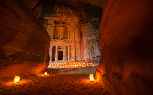 Archaeology「Petra by Night - The Treasury」:スマホ壁紙(12)