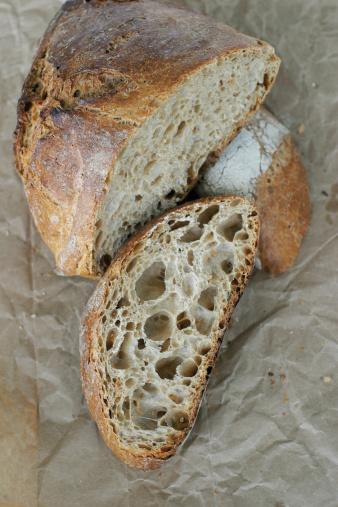 Loaf of Bread「Handmade artisan French sour dough bread loaf on b」:スマホ壁紙(13)