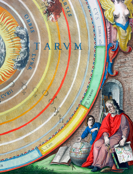 17th Century「An Astronomer Detail From A Map Of The Planets 1660-1661」:写真・画像(17)[壁紙.com]