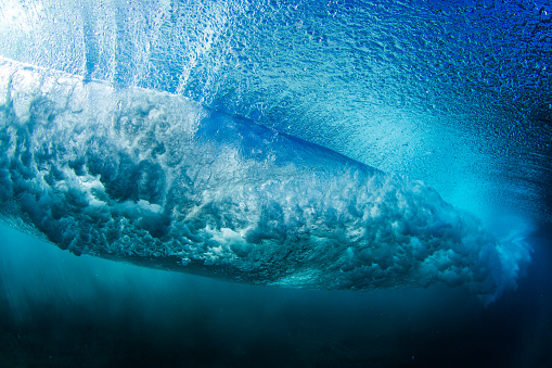 Wave「Underwater view of a wave breaking, Hawaii, America, USA」:スマホ壁紙(0)