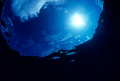 Focus On Background「Underwater Sunburst & Sky」:スマホ壁紙(9)