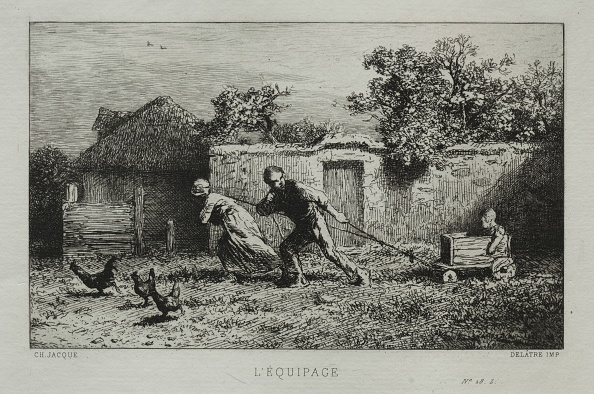 Etching「The Equipage. Creator: Charles-Émile Jacque (French」:写真・画像(0)[壁紙.com]