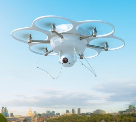 Helicopter「ドローン、カメラを街」:スマホ壁紙(6)