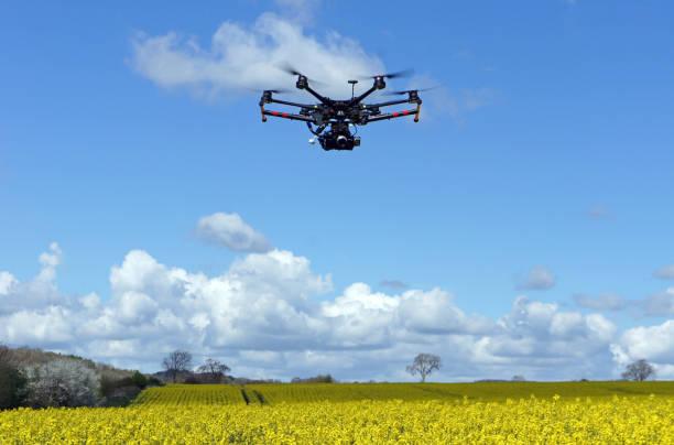 Drone with Camera in Field:スマホ壁紙(壁紙.com)