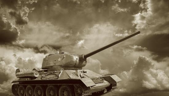 Sepia Toned「Russian Tank T34」:スマホ壁紙(0)