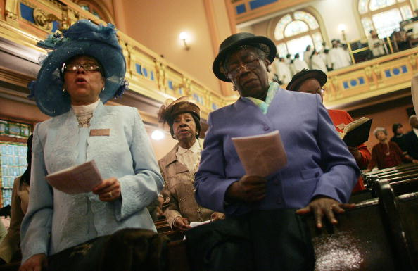 African-American Ethnicity「The Faithful Celebrate Easter At Harlem Church」:写真・画像(18)[壁紙.com]