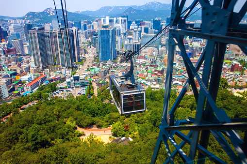 Aerial tramway「Seoul cityscape and funicular」:スマホ壁紙(17)