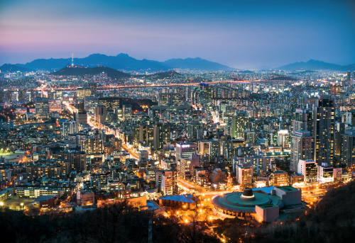 South Korea「Seoul Cityscape At Dusk」:スマホ壁紙(4)